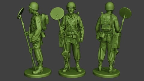 American engineer soldier ww2 Stand A9