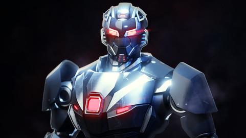 Robot character rigged RTS03