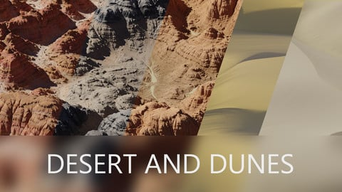 DESERT AND DUNES 8K 32-Bit DISPLACEMENT MAPS