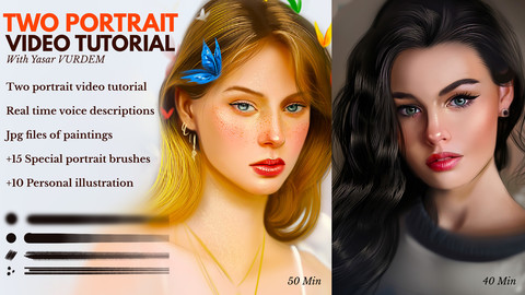 Two - Portrait video tutorial bundle