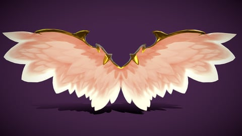 Animated-Low-Poly-Fairy-Angel-Wings