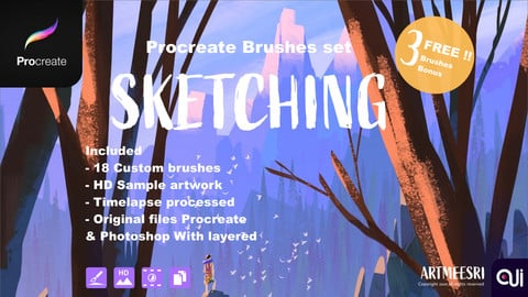 Procreate Brushes set : Sketching
