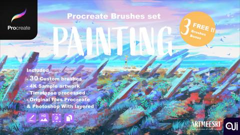 Procreate Brushes set : Painting