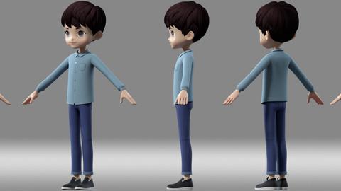 cartoon boy child