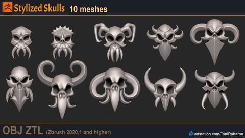 Stylized Skulls