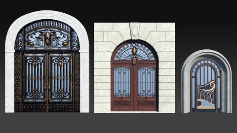 Vintage Art Nouveau Gates - 3d kit (.blend - .fbx - .obj)