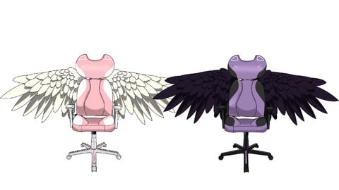 Angelic Kitty Chair (.psd)