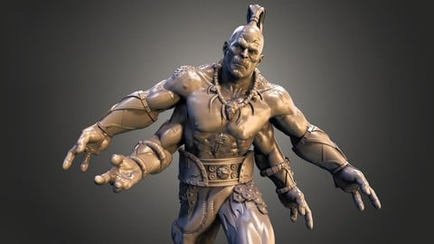 Goro is a character in the Mortal Kombat fighting 3D print model
