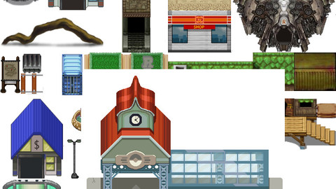 Tileset Pkm insipred and more for  rpg maker