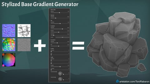 Stylized Base Gradient Generator for Substance Painter