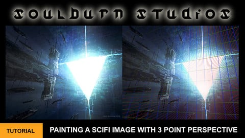 Painting A Scifi Image With 3 Point Perspective