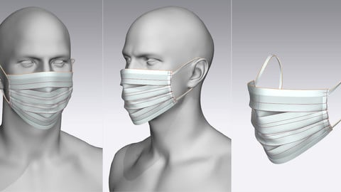 Making a Surgical Mask in Marvelous Designer 6.5