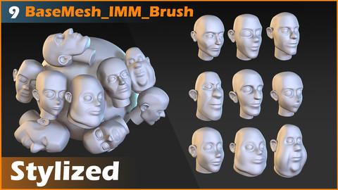 Base Mesh Head  IMM Brush