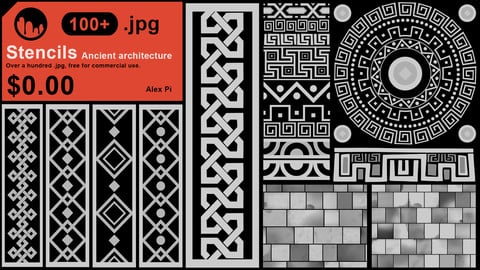 Stencils Pack 1 [ancient architecture]