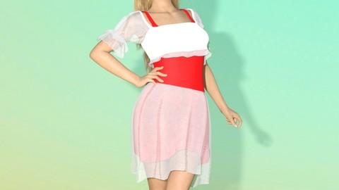 Summer Dress - Marvelous Designer for Daz3D