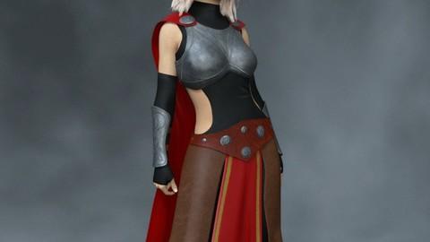 Thunder Warrior - Marvelous Designer for Daz3D