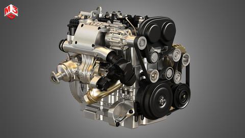 T6 Drive-E Petrol Engine 3D model