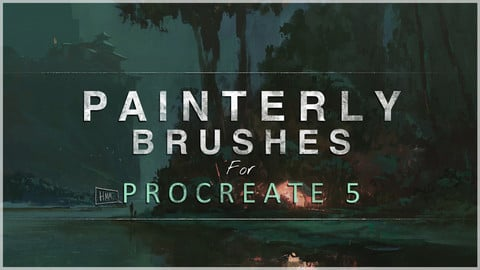 PAINTERLY BRUSH-SET - 44 custom brushes for Procreate 5X