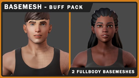 Stylized BUFF Basemesh Pack