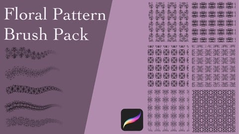 Floral Pattern Brush Pack