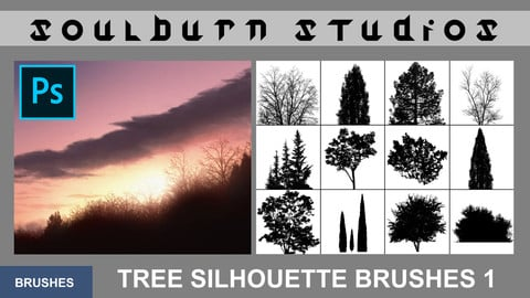 Soulburn Studios Tree Silhouette Brushes 1