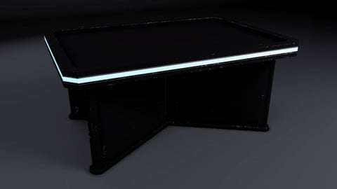 SciFi Table - FREE Real Time/3D Asset/2k textures/Files(MAX, OBJ, FBX)