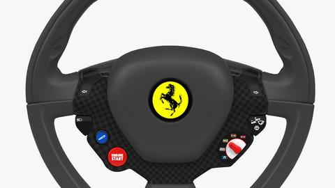 Ferrari Steering Wheel 3D Model