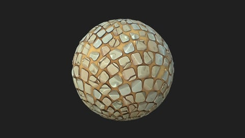 Stylized Cobble Stone with Sand 2k