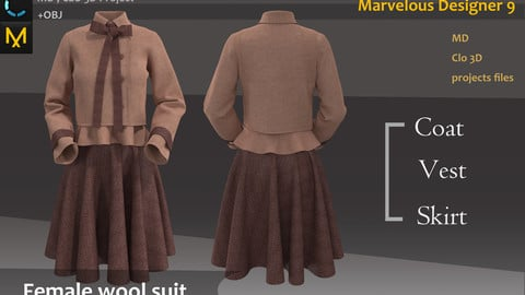 Female wool suit