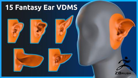 15 Zbrush Fantasy Ear Vdms