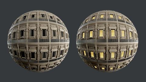 Building Facade Seamless PBR Texture 05