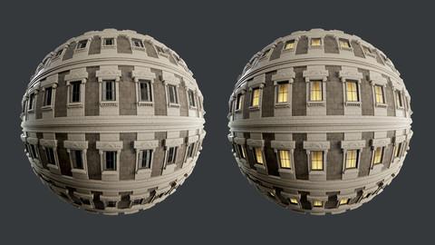 Building Facade Seamless PBR Texture 08