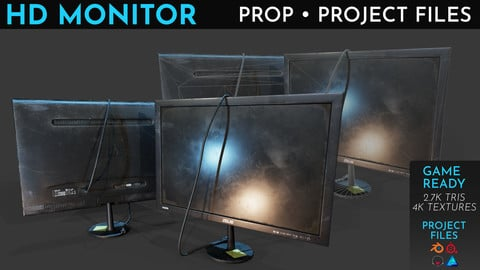 HD Monitor Free Prop + Project Files