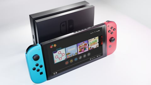 Nintendo Switch Low Poly High Detailed