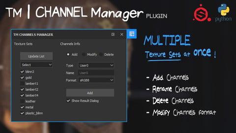 TM Channel Manager - Substance Painter Plugin python