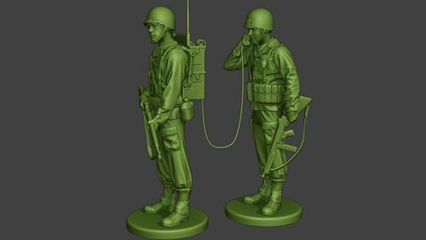 American engineer soldiers ww2 SCR-300 A9
