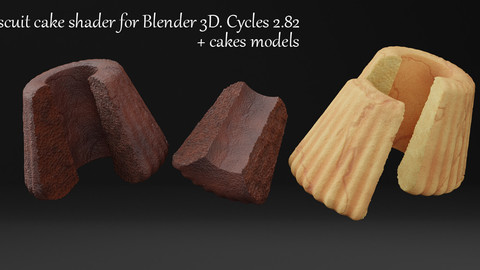 Biscuit Cake Shader For Blender 3d. Cycles 2.82
