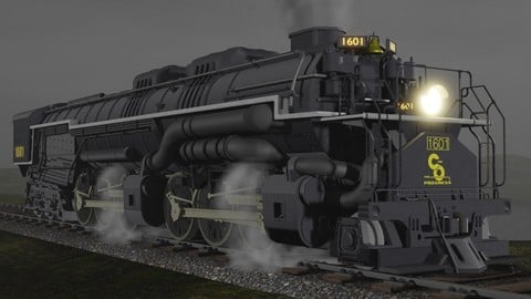 Allegheny H-8 2-6-6-6 Engine #1601 3D model
