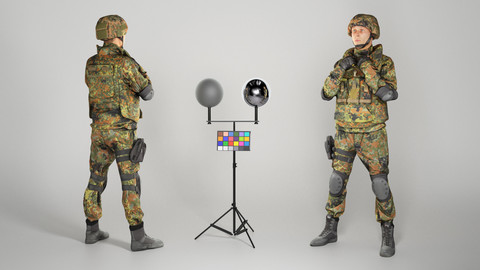 Fully-equipped German soldier 203