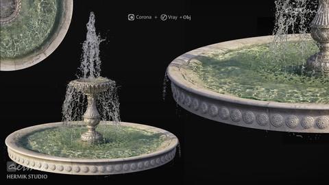Classic Fountains (V-ray _ CoronaRenderer)