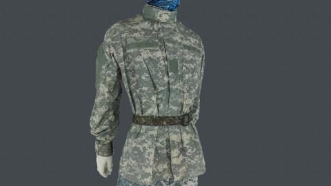 Photoscan_Army_0002_only HighPoly Mesh (16K Texture)