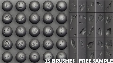 Zbrush - Stone Cracks Vol.1