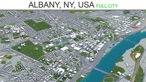 Albany City NY  USA  3D Model 40km