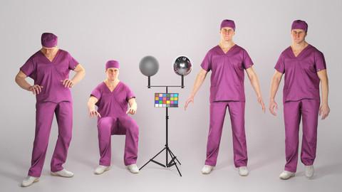 Animated surgeon: walking, working, using PC 204