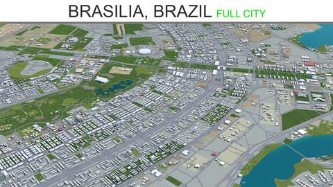 Brasilia City Brazil 3D Model 110 km