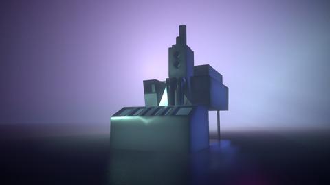 Low Poly SciFi Building