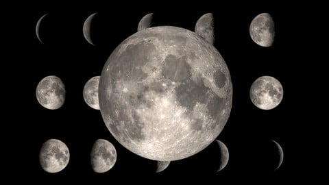 Realistic Moon Phases
