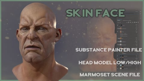 Skin Face - Substance File (layer by layer)