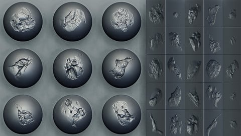 Zbrush - Stone Cracks Vol. 2