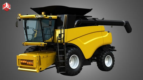 NH - CR 9070 Combine Harvester 3D model